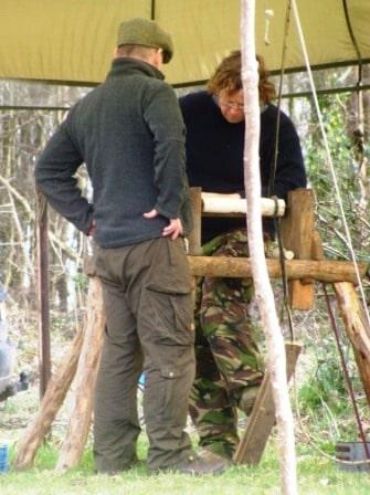 Jonny on the Pole Lathe