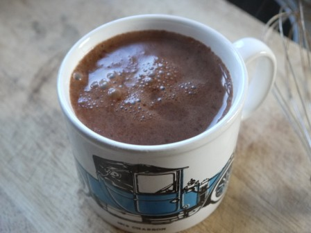 A mug of chilli hot chocolate