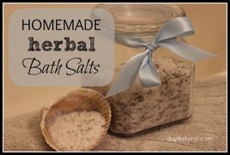Home made Herbal Bath Salts