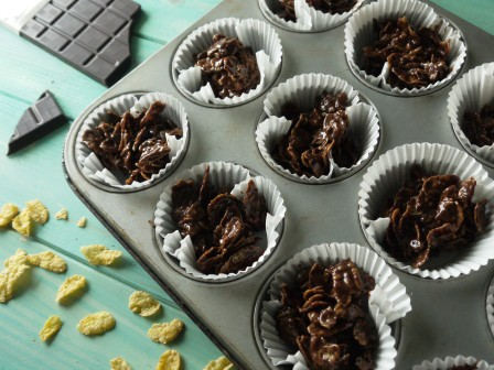 Chocolate Cornflake Cake