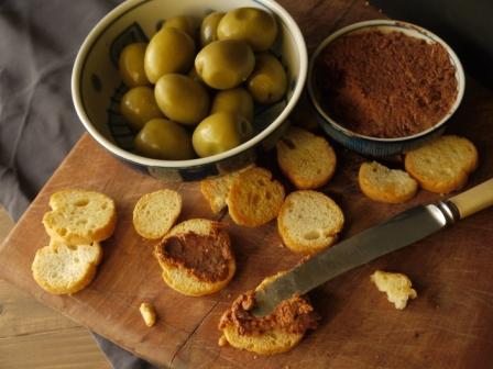 Duck Liver ,Heart & Gizzard Pate spread on crusty bread