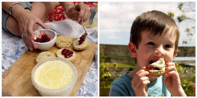 Cream tea collagelw