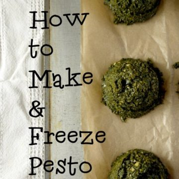 How to make and freeze pesto