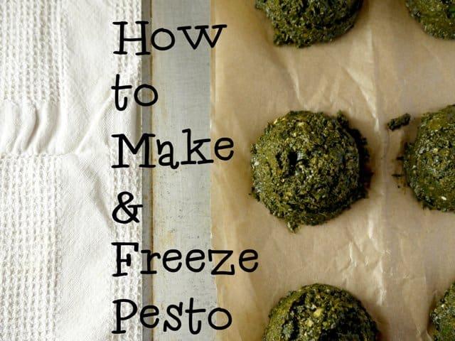 How to make and freeze pesto
