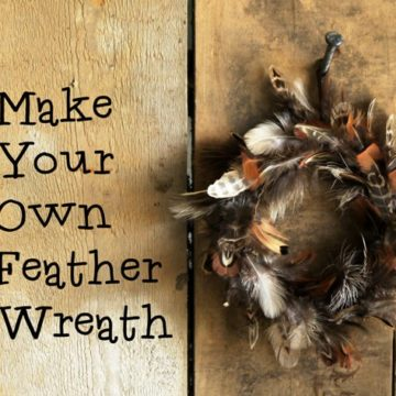 How to make a pretty feather wreath