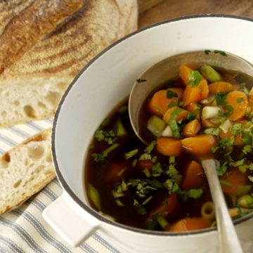 Rustic Carrot and Coriander Soup