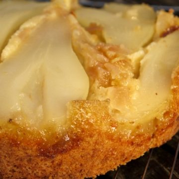 Pear and Ginger Upside Down Cake