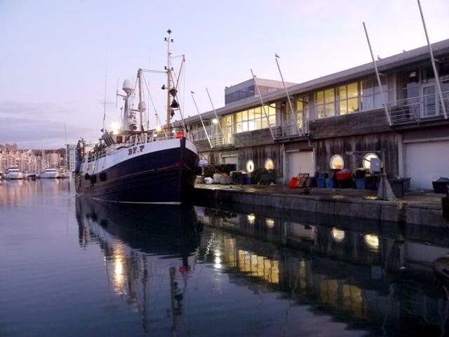 Dawn at Plymouth Fish Market