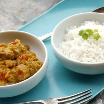 Chicken and Sweet Potato Curry with Rice