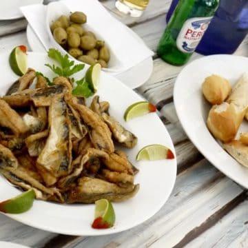 Dish of freshly cooked mackerel