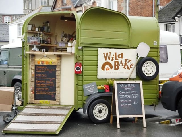 Cute Food trailer at Padstow Christmas Festival