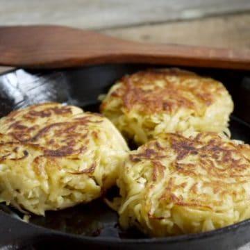 Crispy Pan Fried Potato Cakes