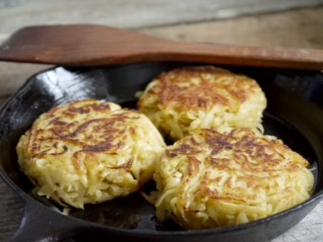 These Crispy Fried Potato Cakes may well be more work than heating ...