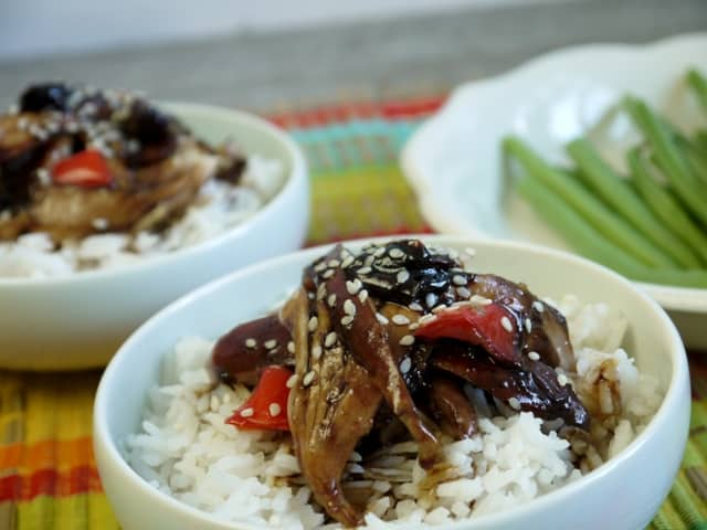 Teriyaki Chicken cooked in a crock pot