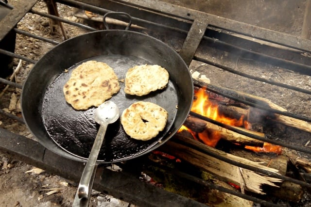 How to make a simple flat bread on an open fire
