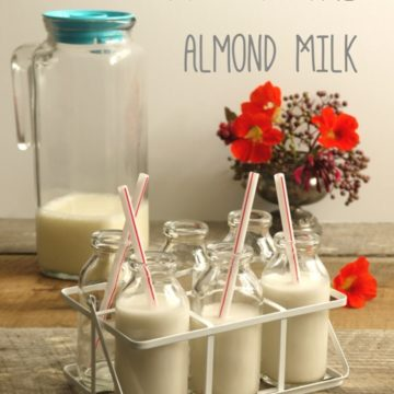 How to Make Fresh Almond Milk - The Hedgecombers