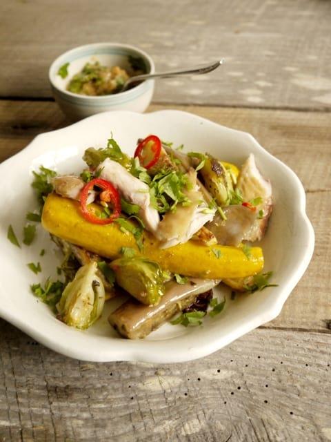 Hot Miso Mackerel Salad