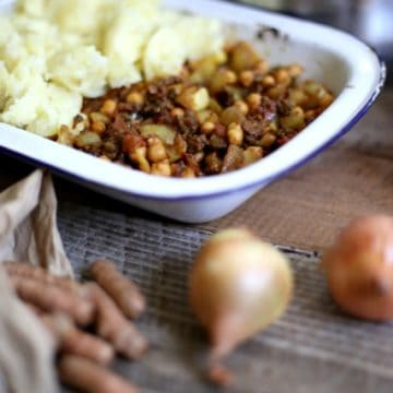 A tasty shepherd's pie using the gentle spices from Morocco