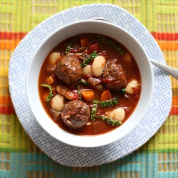 A delicious mix of spiced pork meatballs in a hearty, healthy stew | The Hedgecombers