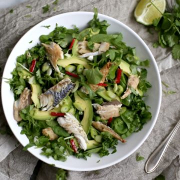 Baked Mackerel Salad with a Hot Ginger Dressing |The Hedgecombers