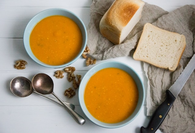 Sweet Potato, Walnut and Sage Soup | The Hedgecombers