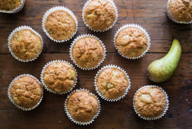 Spiced Pear and Date Muffin | The Hedgecombers