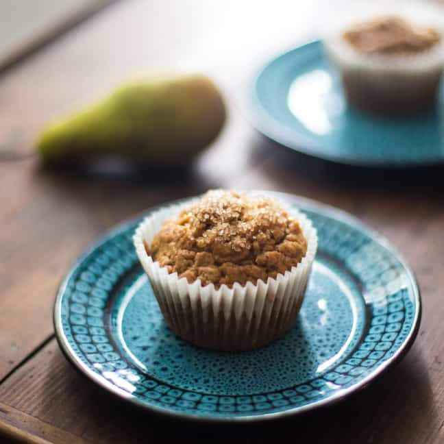 Pear and Pistachio Muffins | The Hedgecomber