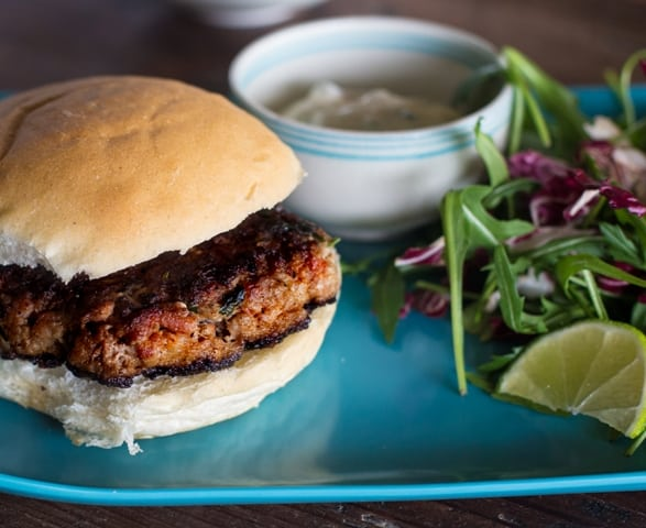 Chipotle Aioli Pork Burger  | The Hedgecombers