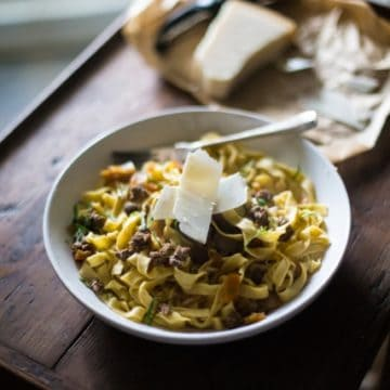 Duck Ragu with Homemade Pasta | The Hedgecombers