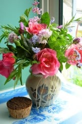 A Posy of Flowers in the Kitchen