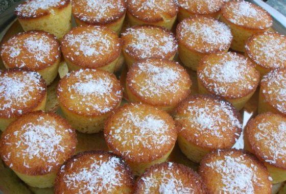 Mini Lemon and Almond Coconut Cakes