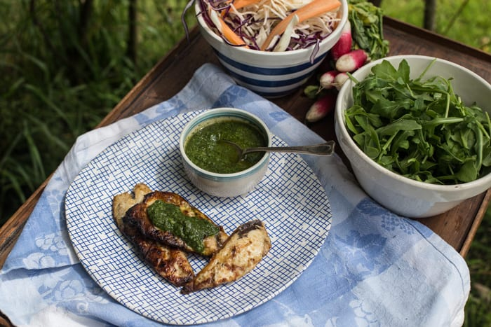 Watercress Salsa Verde & BBQ mackerel