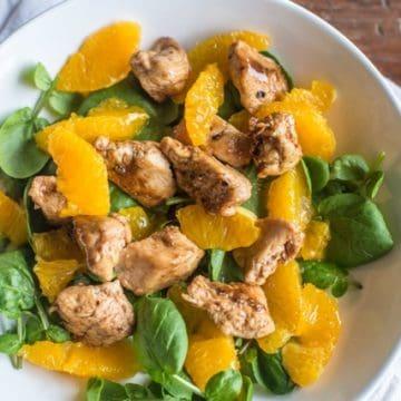 Chicken, orange and watercress salad