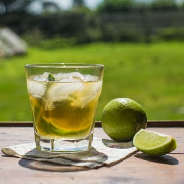 A twist on a classic caipirinha cocktail recipe