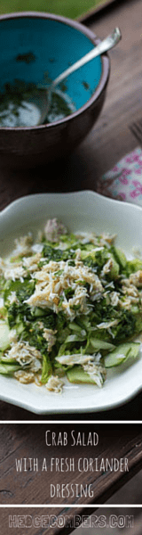 Crab Salad with a Fresh Coriander Dressing | The Hedgecombers