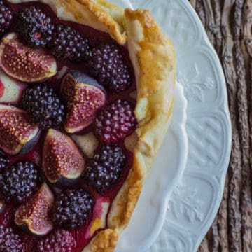 Fig n Blackberry Galette