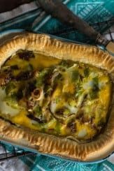 Leek and Smoked Mackerel Quiche