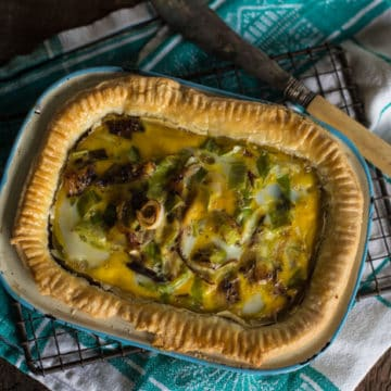 A recipe for Leek and Smoked Mackerel Quiche