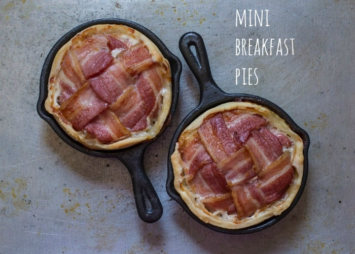 Mini Breakfast Pies cooked and ready to eat
