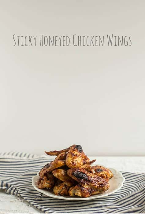 Sticky Honeyed Chicken Wings