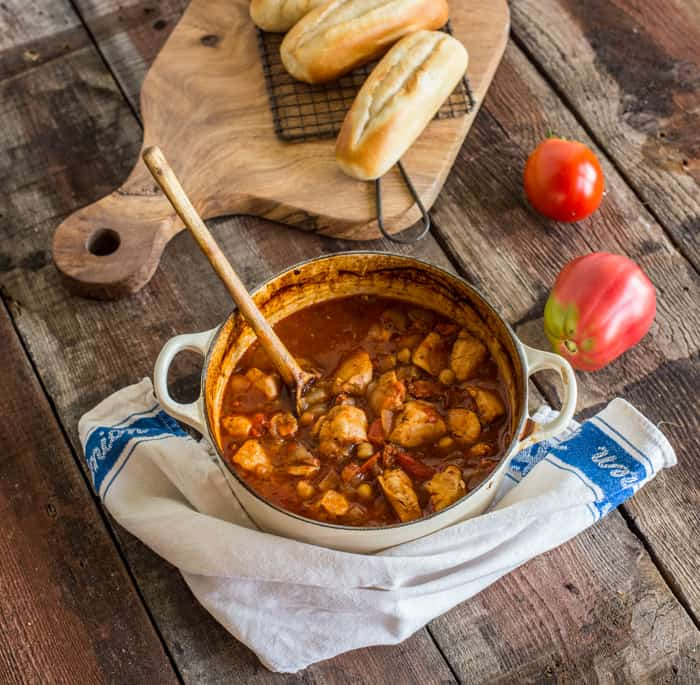 Recipe for Chicken Chorizo and Chickpea Stew