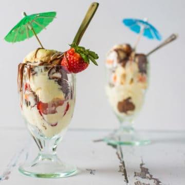 Creme Egg Ice Cream Sundae