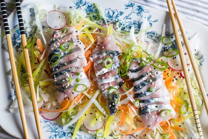 Mackerel Sashimi Salad