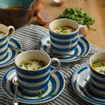 Oeuf en Cocotte with Spicy Salsa