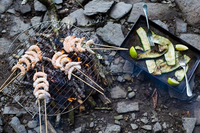 King Prawn Kebabs