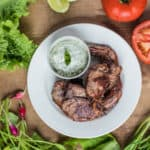 BBQ Lamb Chops with Minted Mayo