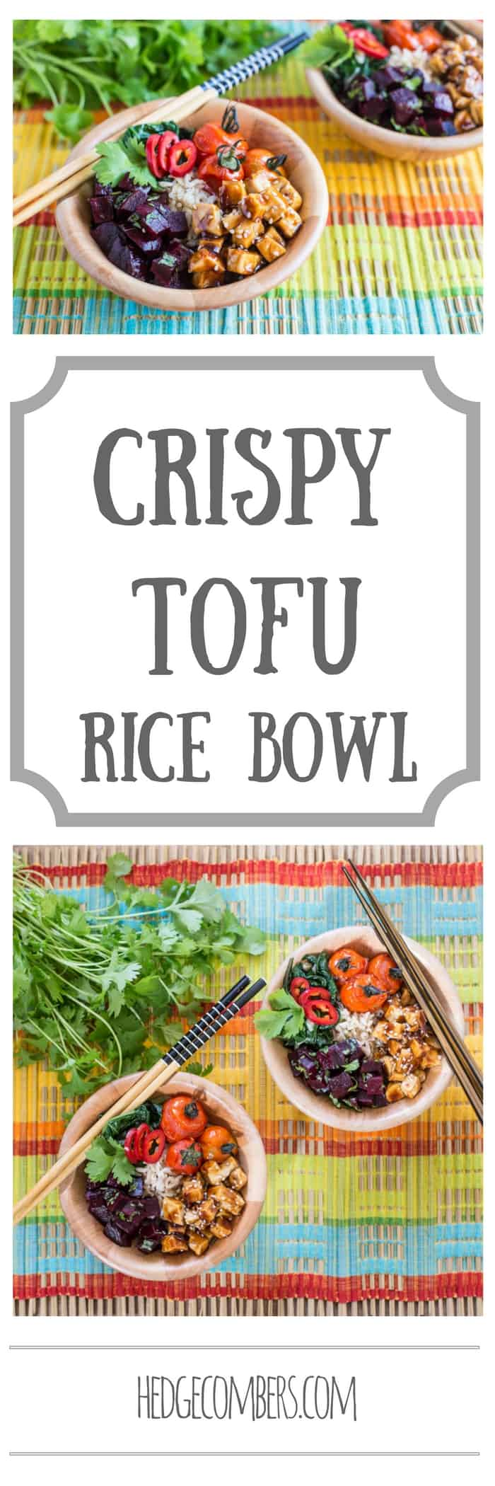 Crispy Tofu Rice Bowl