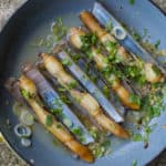 Asian style razor clams