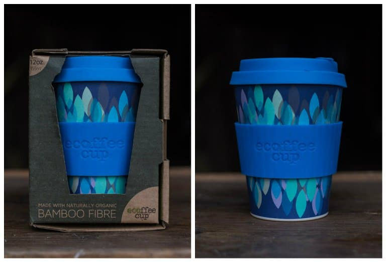 Bamboo coffee travel mug
