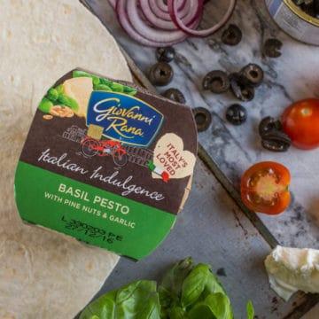Pesto Tortilla Pizza | The Hedgecombers